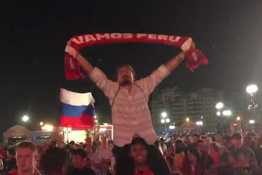Казань отмечает победу сборной России над Египтом