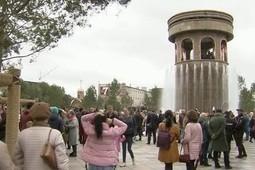В Кемерове на месте сгоревшей «Зимней вишни» открыли сквер