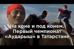 На коне и под конем. Первый чемпионат по борьбе на лошадях «Аударыш» в Татарстане