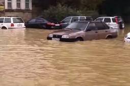 Появилось видео последствий мощного ливня в Сочи