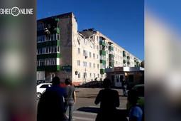 Взрыв в жилом доме Заинска: ударной волной снесло крышу, разрушена часть пятого этажа