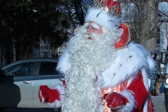 Дед Мороз прибыл из Великого Устюга в Казань