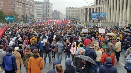 В Москве начался митинг в поддержку фигурантов «московского дела». Пришли уже больше 15 тыс. человек