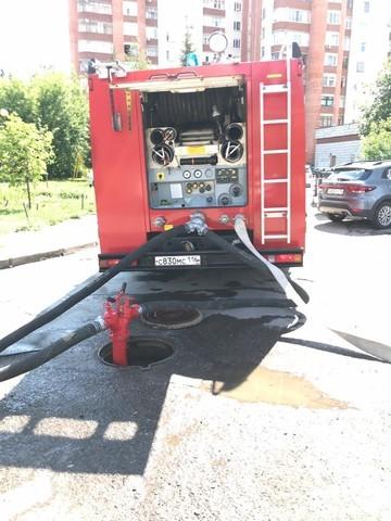 В Казани произошел пожар в высотном доме на Чехова