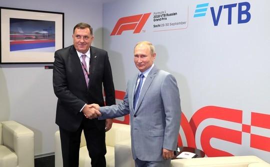 Путин пожелал президенту Республики Сербской успехов навыборах