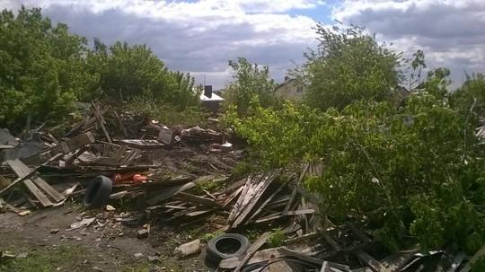 В Челнах снесли первый дом на участке под строительство магистрали через Орловку