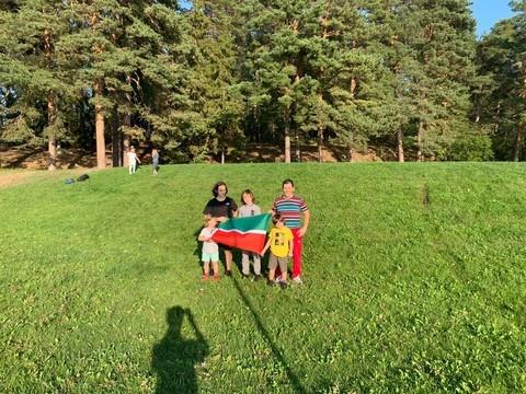 В центральном парке Стокгольма развернули флаг Татарстана