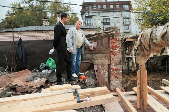 Казанцы забили тревогу из-за ремонта у дореволюционной стены в центре города