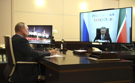 Минниханов выступил с большим докладом на встрече с Путиным. Главное
