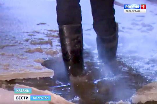 ВКазани затопило улицу Вахитова