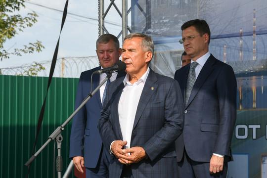 Крупнейший энергопроект страны: Минниханов и Новак в Заинске дали старт модернизации ГРЭС