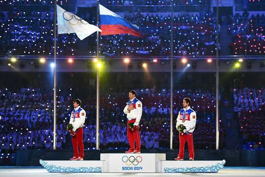 Российская Федерация вновь вышла напервое место вмедальном зачёте Сочи