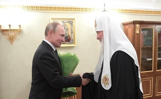 Патриарх Кирилл приехал к Путину в день своей интронизации: «Всегда считал, что служение имеет два направления»