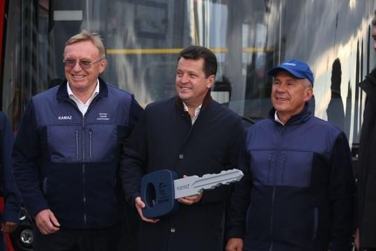 Перевозчики Казани приобрели 53 новых газомоторных автобуса «НЕФАЗ»