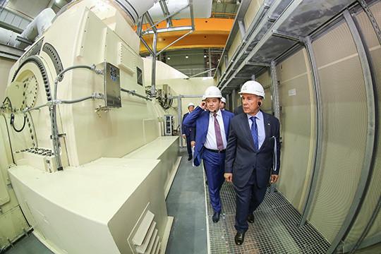Рустам Минниханов наКазанской ТЭЦ-3 запустил самую сильную  турбину в РФ