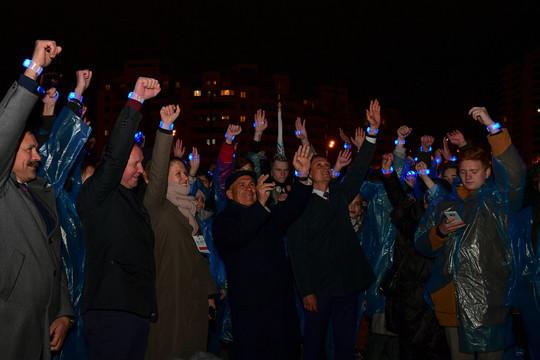 В Казани световым шоу отметили переход страны на «цифру»