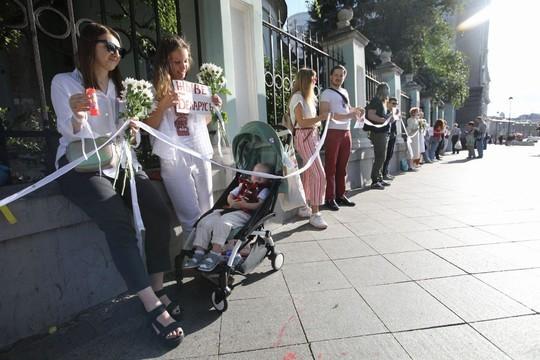 В Москве у посольства Беларуси прошла очередная акция протеста