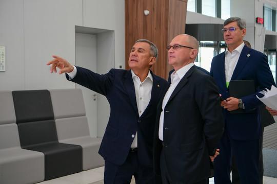 Минниханов показал Кириенко «Казань Экспо» – площадку для «Цифрового прорыва»