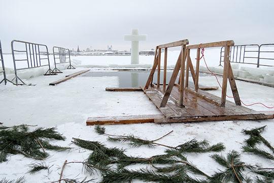 ВКрещение для татарстанцев оборудуют 107 прорубей для купания