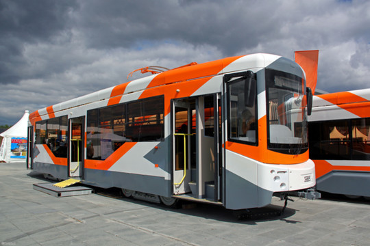 Казань получила семь новых актуальных насегодняшний день трамваев