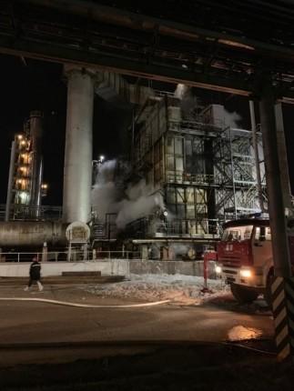 В Уфе произошел пожар на заводе «Башнефти»