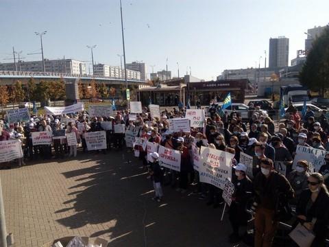 В Казани начался митинг за перенос трассы М12