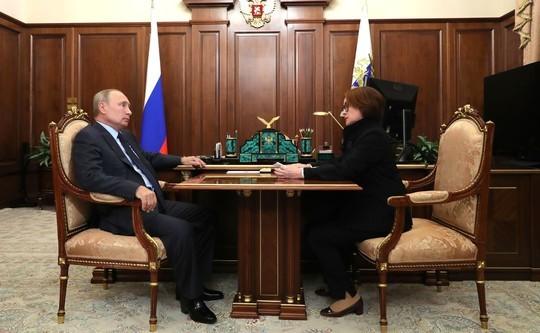 Набиуллина доложила Путину о ситуации в российской экономике