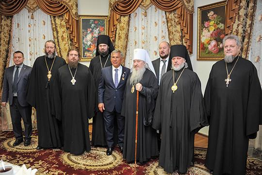 Минниханов встретился сархиереями Татарстанской митрополии Русской Церкви