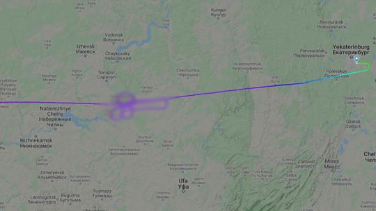Пилоты «Победы» поддержали Дзюбу, нарисовав тот самый символ в небе над Башкортостаном