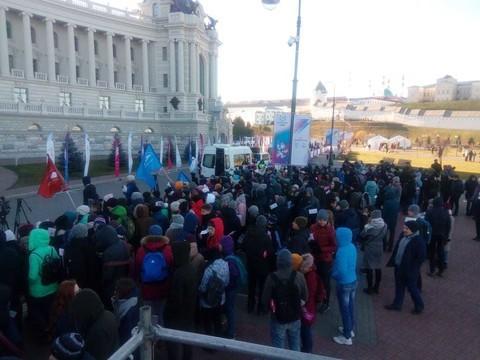 Казань приняла эстафету огня XXIX Всемирной зимней Универсиады 2019 года