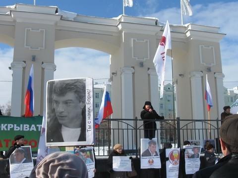 «Боль утраты непрошла» Монологи участников акции памяти Бориса Немцова вОрле