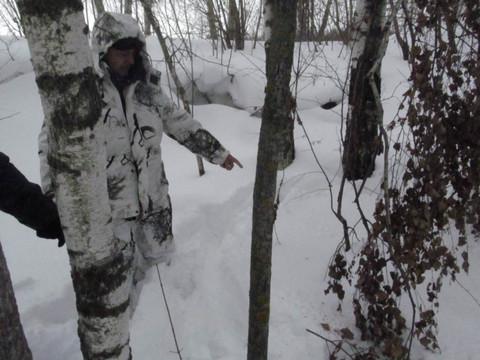 В Казани наркокурьер попытался спрятаться от полицейских в сугробе