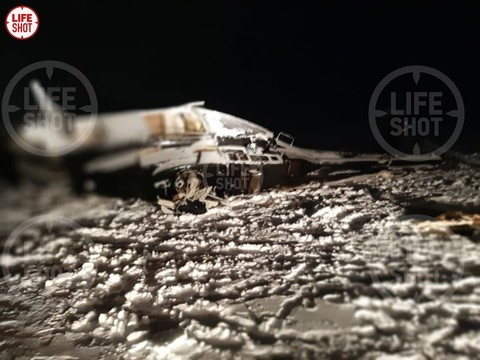 Появились фото с места крушения вертолета Хайруллина