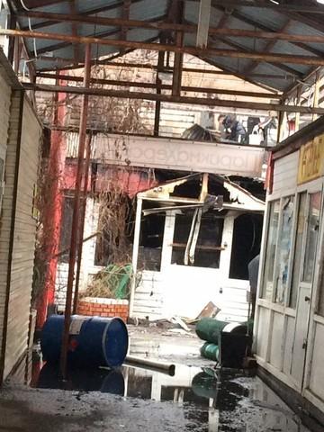 В Казани ночью произошел крупный пожар на Даурском рынке