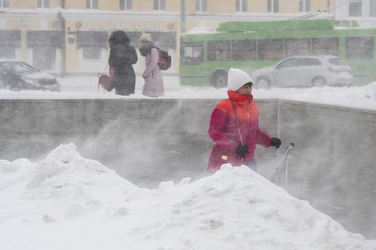 На Татарстан надвигается метель с сильным ветром
