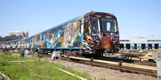 В Казани появился первый брендированный поезд метро. А как это работает в Москве?