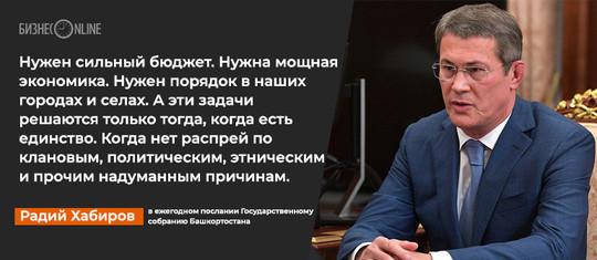 О лозунгах, зарплате и о том, кого нужно носить на руках: 10 цитат с послания Радия Хабирова
