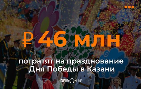 На празднование Дня Победы в Казани потратят 46 млн рублей