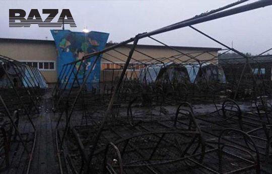 Ребенок погиб во время пожара в палаточном лагере в Хабаровском крае, несколько детей сильно обгорели