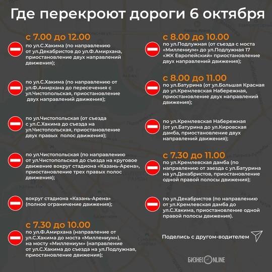В Казани пройдет полумарафон: где перекроют дороги?
