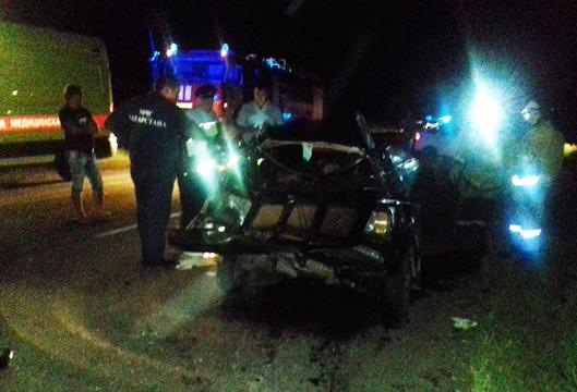 ВТатарстане в«лобовом» столкновении 2-х легковых авто погибли два человека