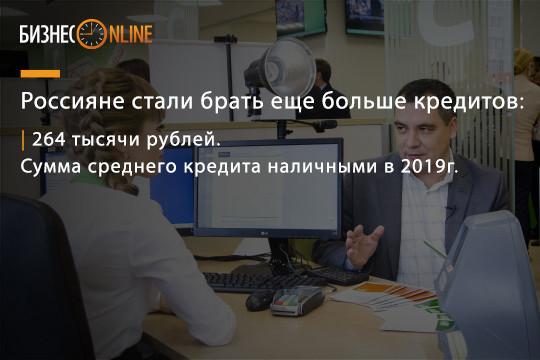 Какая сумма кредитов у россиян
