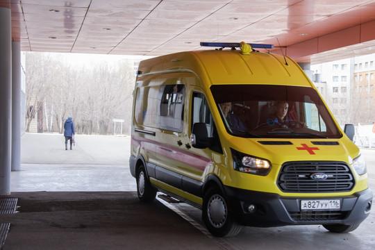 В Казани беременная женщина пострадала в ДТП с тремя автомобилями