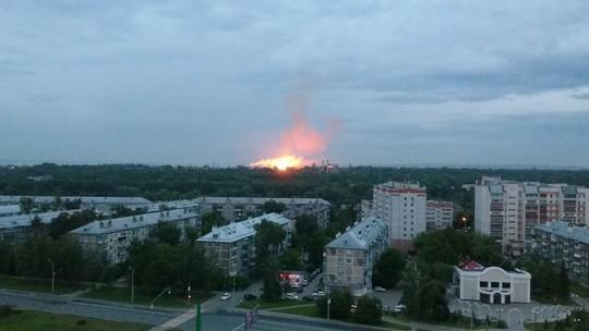Однако Пороховом заводе вКазани вновь гасят сильный пожар