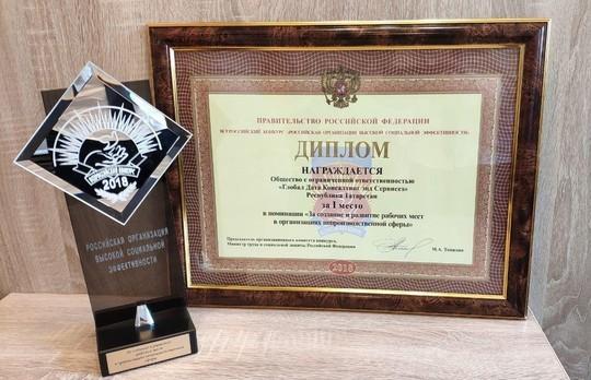 ICL Services стала победителем всероссийского конкурса «Российская организация высокой социальной эффективности»