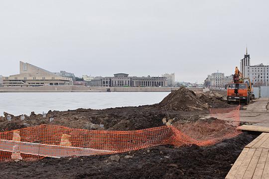 Уозера Нижний Кабан вКазани начали строить зону отдыха