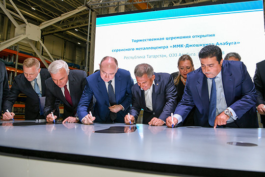 Рустам Минниханов открыл вЕлабуге 1-ый вПоволжье сервисный металлоцентр