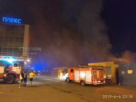 В Казани горит Приволжский рынок