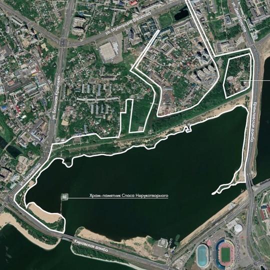 Между Кремлевской и Кировской дамбами в Казани появится парк «Манзара»: началась разработка проекта