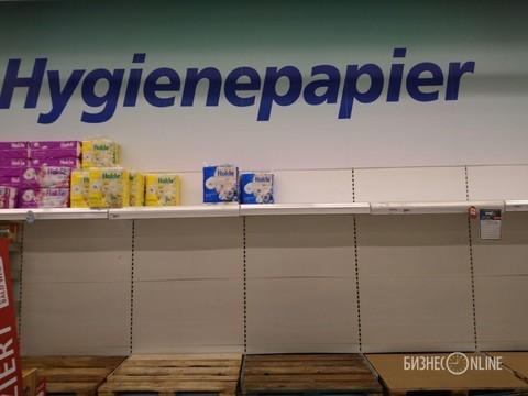 Из-за коронавируса в Германии раскупили средства дезинфекции и туалетную бумагу